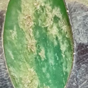 Pendentif en chrysoprase naturelle, look vintage gipsy