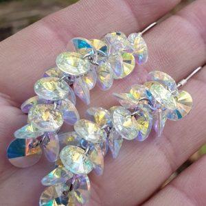 Boucles d'oreilles en verre autrichien, très chics et lumineuses
