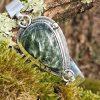 Bracelet en pierre naturelle séraphinite ou clinochlore, une pierre de russie